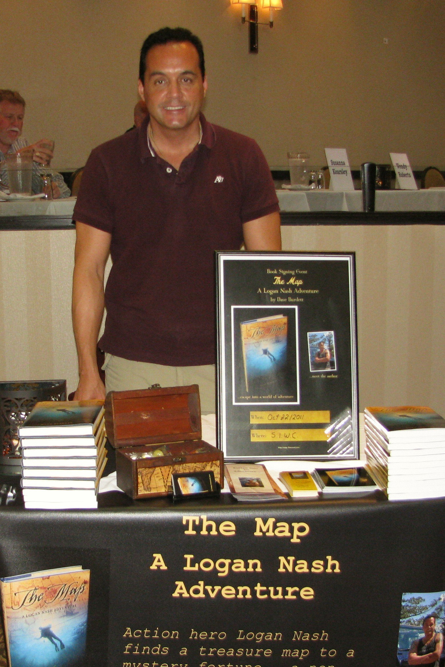 Dave Burdett, author of The Map, A Logan Nash Adventure, action/adventure novel series